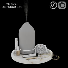 vitruvi diffuser set 3d model Download  Buy 3dbrute