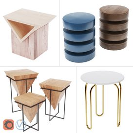 Side Tables - Set 04 3d model Download  Buy 3dbrute