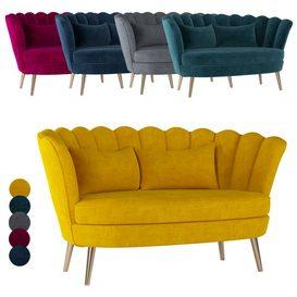 Santena 2 seater sofa 3d model Download  Buy 3dbrute