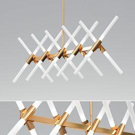 20 Light Branch Chandelier - Modern Design Home Lighting 3d model Download  Buy 3dbrute