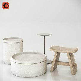 Side tables set 3d model Download  Buy 3dbrute