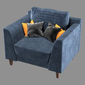 Sofa Vol 01- Single 3d model Download  Buy 3dbrute
