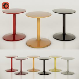 Spool table set- B&B Italia 3d model Download  Buy 3dbrute