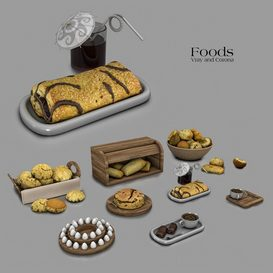 Foods 3d model Download  Buy 3dbrute