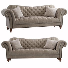 vanna Brussel Tufted sofa 3d model Download  Buy 3dbrute