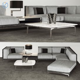 Visionnaire Legend L sofa set 3d model Download  Buy 3dbrute