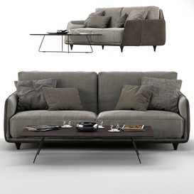 Ditre Italia ELLIOT 2-er Maxi Sofa 3d model Download  Buy 3dbrute