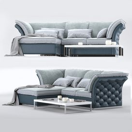 CorteZARI TIAGO Corner Sofa 3d model Download  Buy 3dbrute
