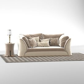 Turri Vogue sofa set 3d model Download  Buy 3dbrute