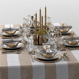 table setting 05 3d model Download  Buy 3dbrute