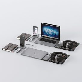 Workplace Space Gray MacBook 3d model Download  Buy 3dbrute