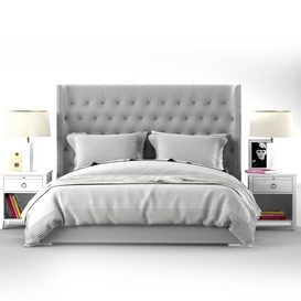 Zadie bed collection RH Teen 3d model Download  Buy 3dbrute