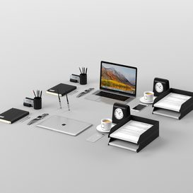 Workplace Space Gray IMac 3d model Download  Buy 3dbrute
