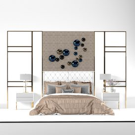 Fendi montgomery bed 3d model Download  Buy 3dbrute