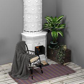 Scandinavian decorative set LT 3d model Download  Buy 3dbrute
