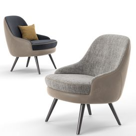 375 Walter Knoll Armchair With Pillow LT 3d model Download  Buy 3dbrute