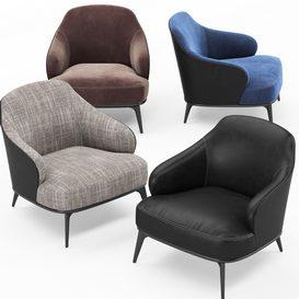 Leslie armchair MT 01 LT 3d model Download  Buy 3dbrute