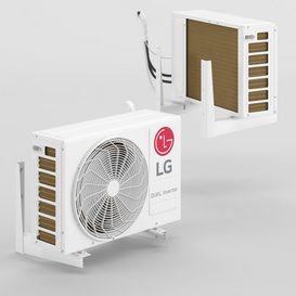 LG - P12SP external air conditioning unit LT 3d model Download  Buy 3dbrute