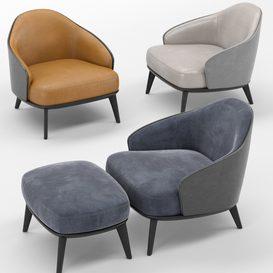 Leslie armchair MT 03 LT 3d model Download  Buy 3dbrute