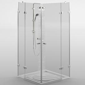Shower Ravak Brilliant LT 3d model Download  Buy 3dbrute