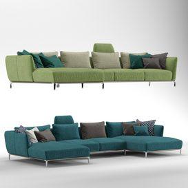 Sofa ROLF BENZ SCALA 3d model Download  Buy 3dbrute