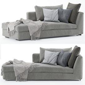 Flexform Sofa MAGNUM LT 3d model Download  Buy 3dbrute
