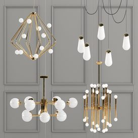Four Exclusive Chandelier Collection 60 LT 3d model Download  Buy 3dbrute