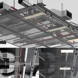 Industrial ceiling SAS International 2 LT 3d model Download  Buy 3dbrute