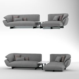 Sofa cassina 550 BEAM SOFA SYSTEM 3d model Download  Buy 3dbrute