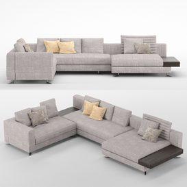 white sofa MT 01 3d model Download  Buy 3dbrute