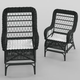 Armchair Blixen chair cofur 3d model Download  Buy 3dbrute