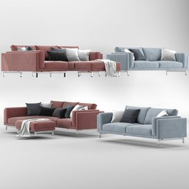 Sofas and ottoman IKEA NOCKEBY 3d model Download  Buy 3dbrute