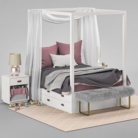 BED Restoration Hardware AVALON LT 3d model Download  Buy 3dbrute