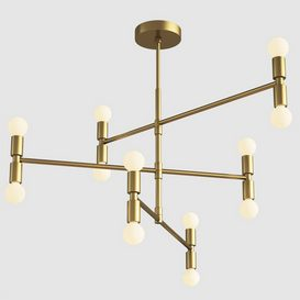 Luster Atomium Chandelier - Lambert & Fils 3d model Download  Buy 3dbrute