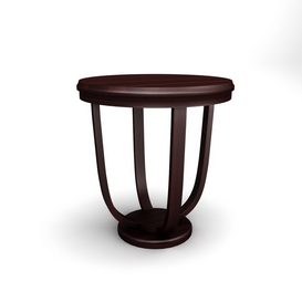 Mathieu Side Table brown 3d model Download  Buy 3dbrute