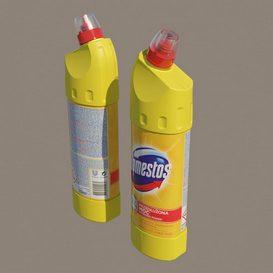 Domestos bottle 3d model Download  Buy 3dbrute