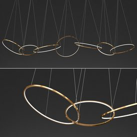 Gold Ring Chandelier_2 3d model Download  Buy 3dbrute