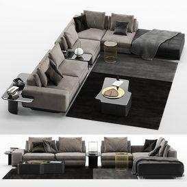 Sofa Lawrence B MT 01 LT 3d model Download  Buy 3dbrute