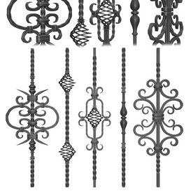 Wrought iron fence No.01 3d model Download  Buy 3dbrute