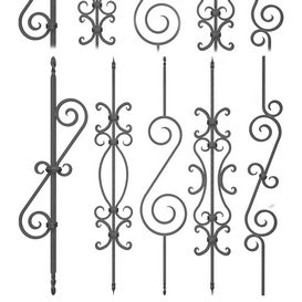 Wrought iron fence No.02 3d model Download  Buy 3dbrute
