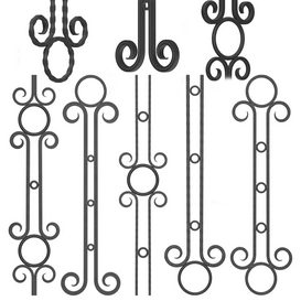 Wrought iron fence No.03Corona 3d model Download  Buy 3dbrute