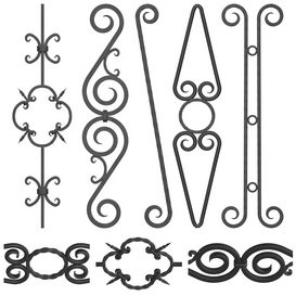 Wrought iron fence No.04 3d model Download  Buy 3dbrute