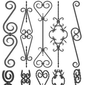 Wrought iron fence No.05Corona 3d model Download  Buy 3dbrute