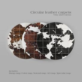 Carpet Pack 1 - Circular Leather Carpets. Z39 3d model Download  Buy 3dbrute