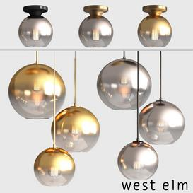WEST ELM Sculptural Glass Globe Z1 3d model Download  Buy 3dbrute
