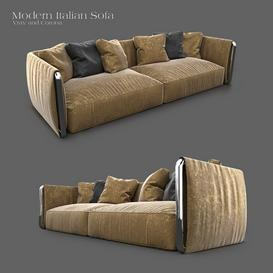 FlexForm Italian Sofa Z69 3d model Download  Buy 3dbrute