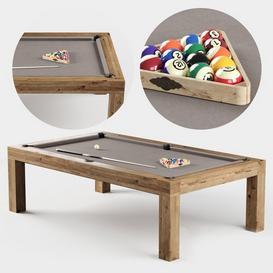 RH Brunswick Parsons Billiards table Z5 3d model Download  Buy 3dbrute