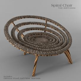 Spiral Chair Dunelli Z102 3d model Download  Buy 3dbrute