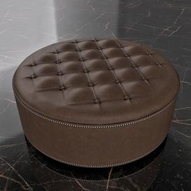 Round Leather Ottoman Foot Rest Z86 3d model Download  Buy 3dbrute