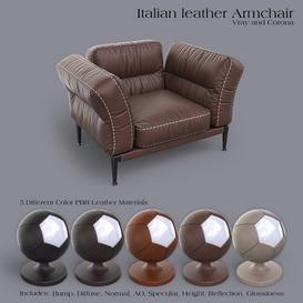 ADDA Italian ArmChair Z64 3d model Download  Buy 3dbrute